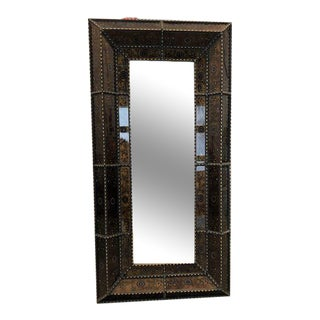 Reverse Painted Floor Length Mirror For Sale