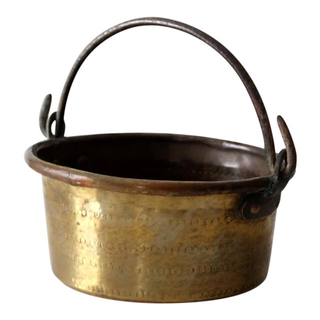 Antique Brass Plated Copper Pot - Image 1 of 8