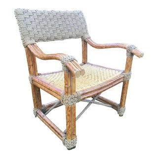 Captains Rope and Tortoise Bamboo Armchair