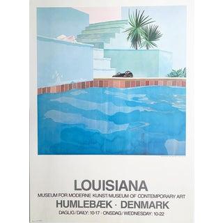 "David Hockney ""Louisiana, Museum for Moderne Kunst-Museum of Contemporary Art"" Humlebaek, Denmark, Museum Exhibit Original Poster For Sale"