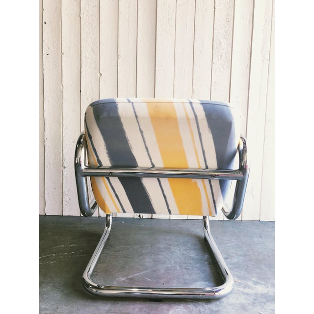 Mid-Century Modern Vintage Kinetics Furniture Chrome Cantilever Armchairs For Sale - Image 3 of 6