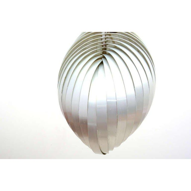 """Mid Century Modern French Pendant Chandelier by Mathieu Lamp """"S"""" Shape For Sale - Image 4 of 8"""