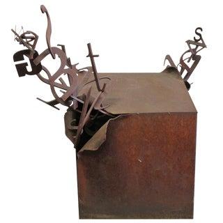 Steel Letter Box Pedestal / Sculpture For Sale