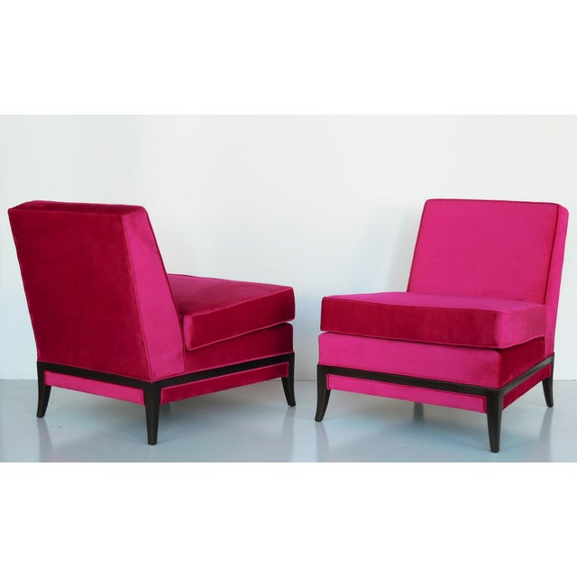 Pair of Midcentury Tommi Parzinger Lounge Chairs - Image 4 of 8