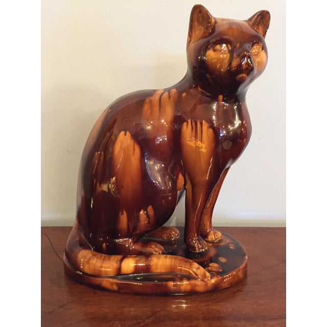 English Treacleware Cat Figure For Sale - Image 10 of 10