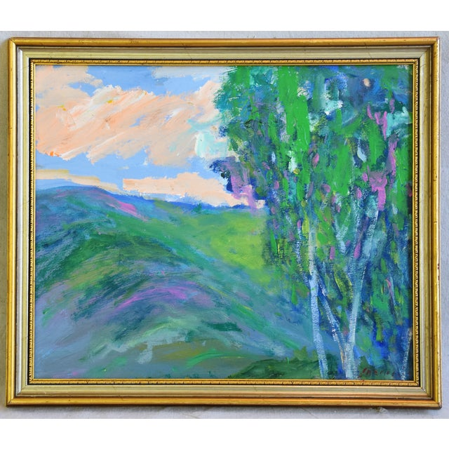 "Blue Original Juan ""Pepe"" Guzman, Ojai California Landscape Oil Painting For Sale - Image 8 of 9"