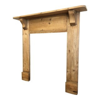 19th Century English Pine Mantel For Sale