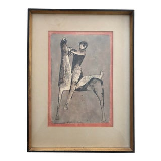 Vintage Marino Marini Print Horse and Rider For Sale