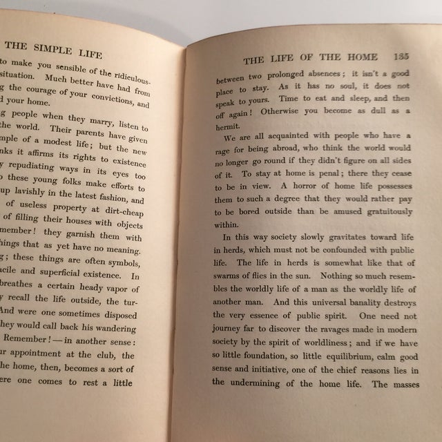 Animal Skin The Simple Life Charles Wagner Hardcover 1904 For Sale - Image 7 of 8