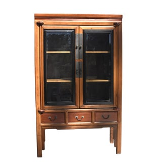 Antique Chinese Rosewood Ming Curio Cabinet For Sale