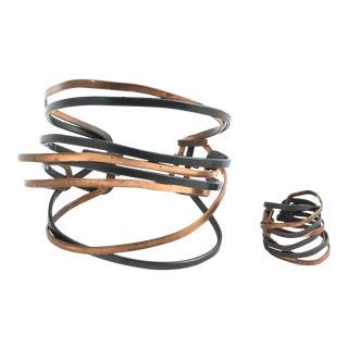 Midzo Abstract Multimetal Cuff Bracelet & Ring For Sale