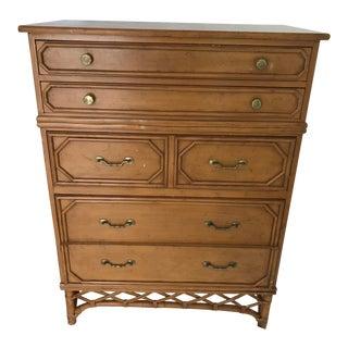 Vintage Ficks Reed Highboy Dresser For Sale