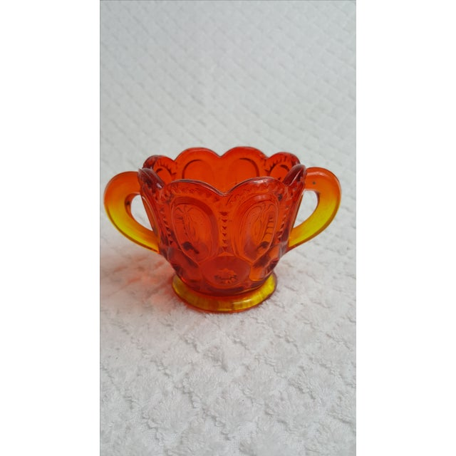 Mid-Century Amberina Glass Cream and Sugar For Sale In Nashville - Image 6 of 6