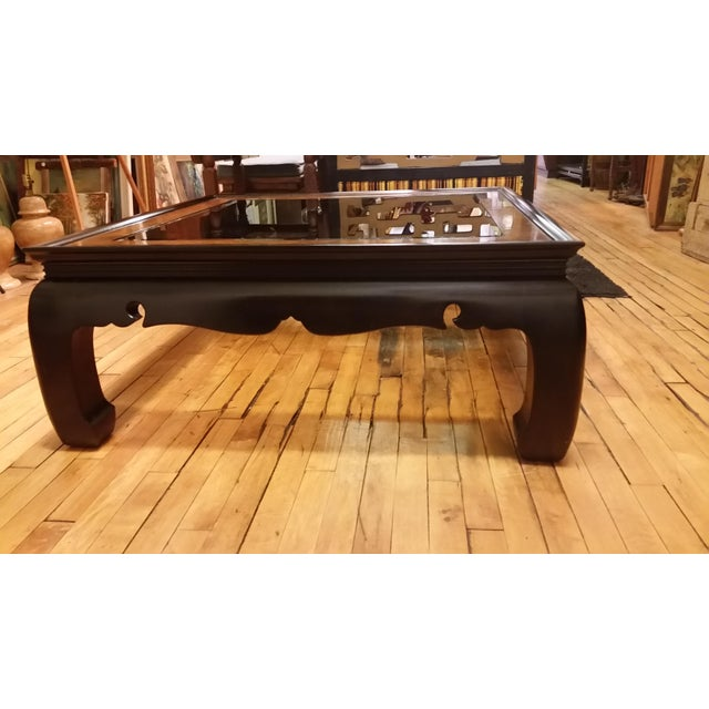 Gordons Inc. 1970s Regency Kang Style Square Wood Coffee Table For Sale - Image 4 of 8