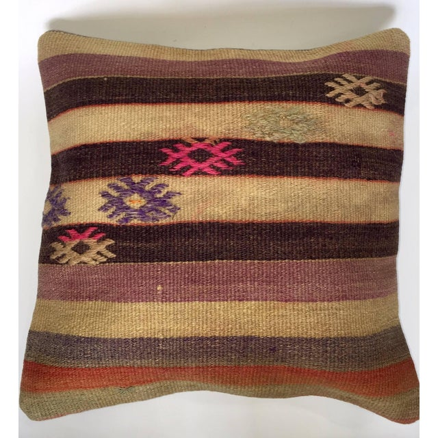 Turkish Handmade Kilim Pillow Cover The seller says: Fill your home with the timeless patterns, colors, and textures of...