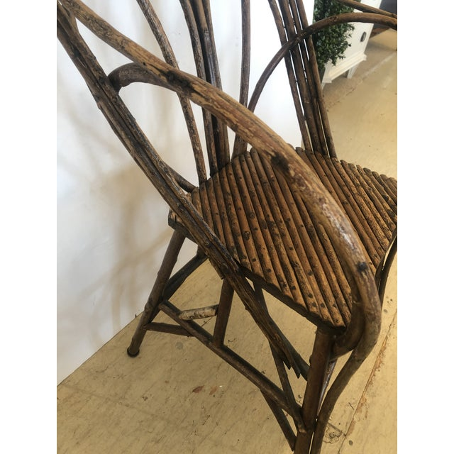 Antique Rustic Adirondack Twig Chair For Sale - Image 4 of 13