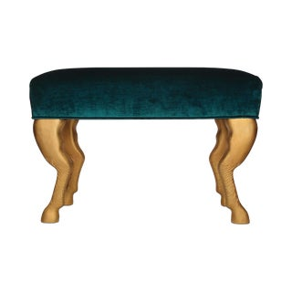 Modern Green Blanchette Bench For Sale