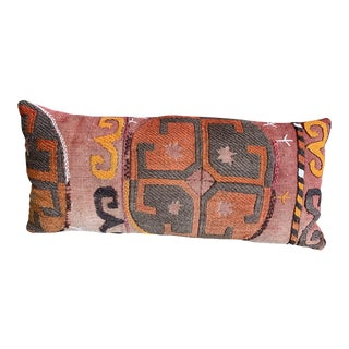 Oblong Pillow Cut From Handmade Antique Rug 3 Available For Sale