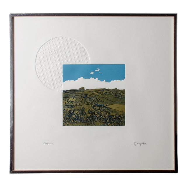 Francisco Copello Embossed Intaglio Print For Sale