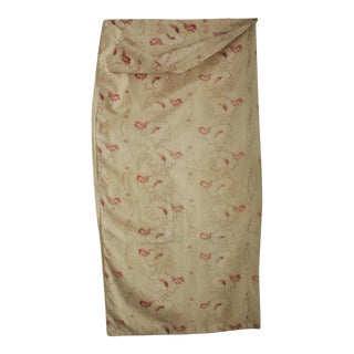 Vintage Art Nouveau Laundry Bag Made From Antique French Faded Floral Fabric For Sale