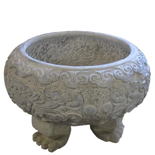 Chinese Beast Feet Stone Planter For Sale