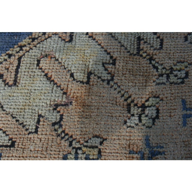 Early 20th Century Antique Oushak Waterloo Design Rug - 11′9″ × 15′5″ For Sale - Image 10 of 13