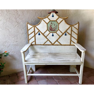 Bob Christian Decorative Hand Painted Bench Preview