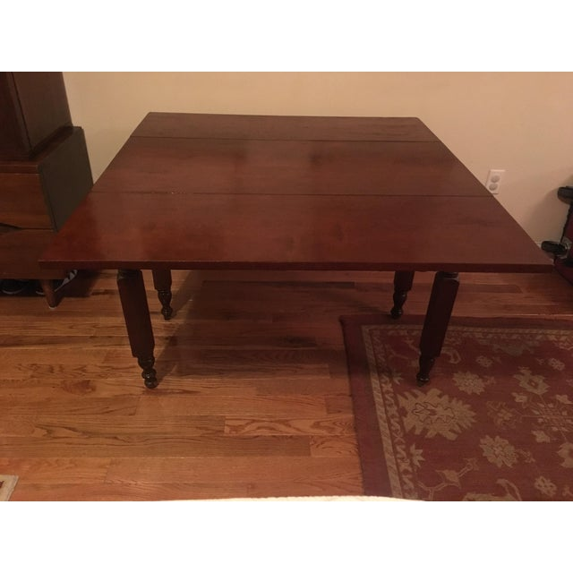 Americana 1900s Traditional Cherry Table With Leaves For Sale - Image 3 of 6
