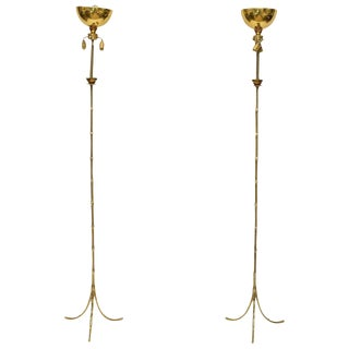 Maison Baguès Floor Lamps - A Pair For Sale