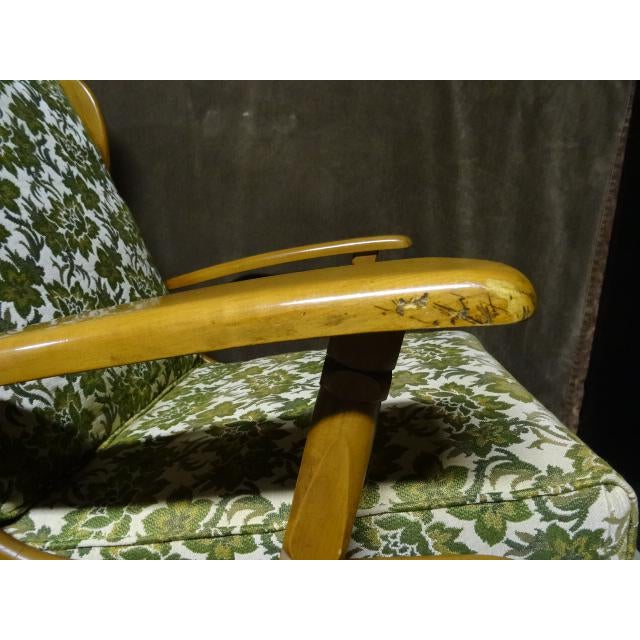 Green Mid-Century Cushman Style Colonial Platform Rocking Chairs - A Pair For Sale - Image 8 of 8