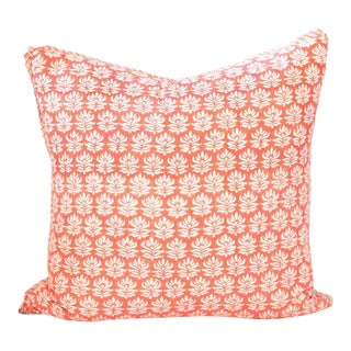 "Moonga Block Print Pillow - 26x26"" For Sale"