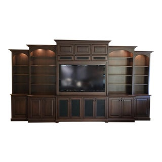 Adler Wood Custom Media Cabinet