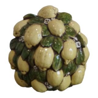 Lemon Ceramic Sphere Decor For Sale