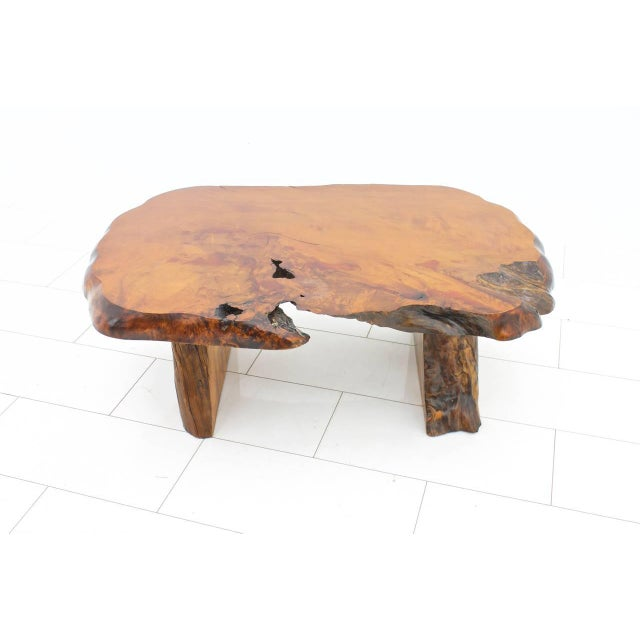 Mid-Century Modern Solid Root Wood Coffee Table, 1960s For Sale - Image 3 of 10