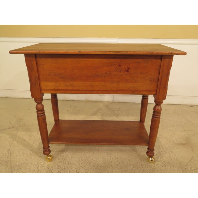 Wood Habersham Plantation Country Distressed Cart Table For Sale - Image 7 of 13
