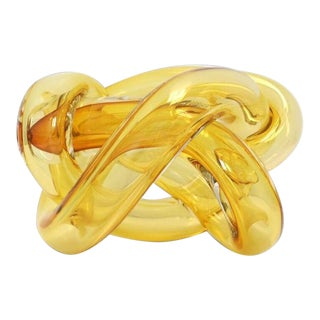 Wrap Object Glass Knot- Amber For Sale