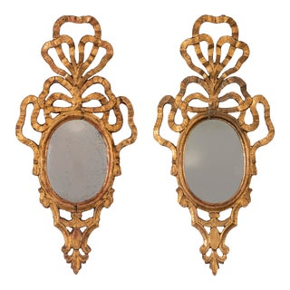 French Ribben Giltwood Mirrors, 19th Century - a Pair For Sale