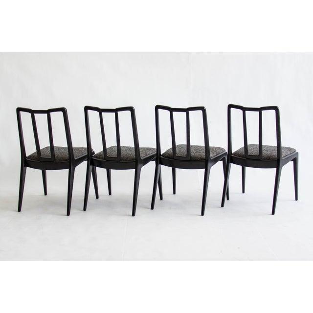 Ebonized John Stuart Dining Chairs - Set of 4 - Image 2 of 7