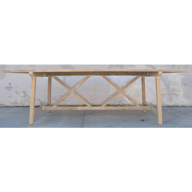Farm or Harvest Table in Vintage Pine, Custom Made by Petersen Antiques For Sale - Image 4 of 11