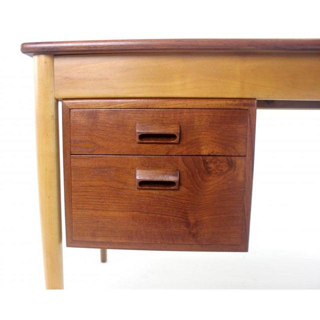 Scandinavian Modern Teak, Beech & Walnut Desk Designed by Borge Mogensen For Sale In Portland, OR - Image 6 of 7