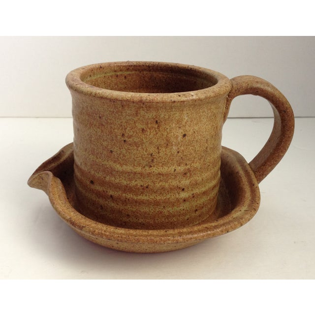 Vintage MCM Studio Art Pottery Gravy/Juice Vessel - Image 3 of 9