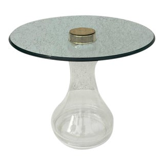 Glass and Brass Side Table by Sarreid