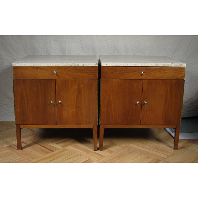Paul McCobb Calvin Side Tables - a Pair, Storage Cabinets For Sale - Image 12 of 12