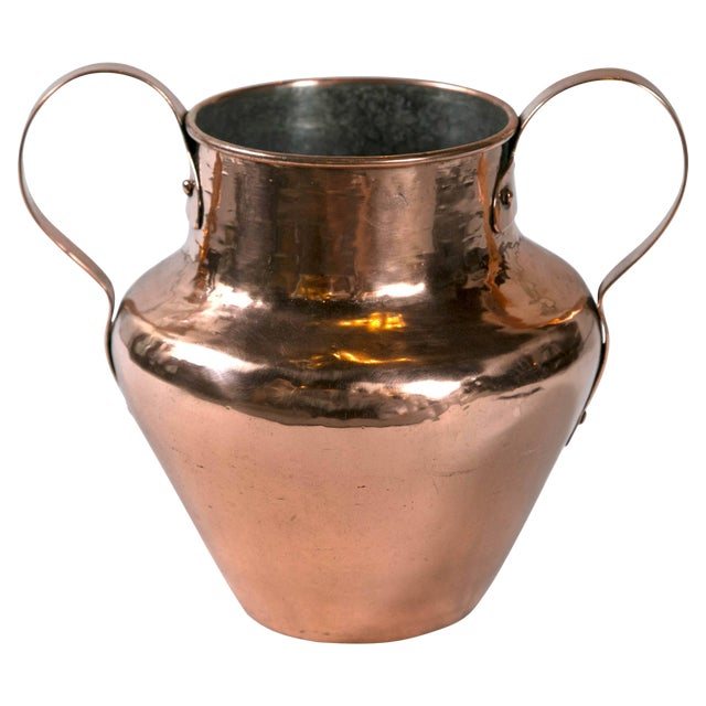 Antique Dovetailed Copper Urn, Late 19th Century For Sale