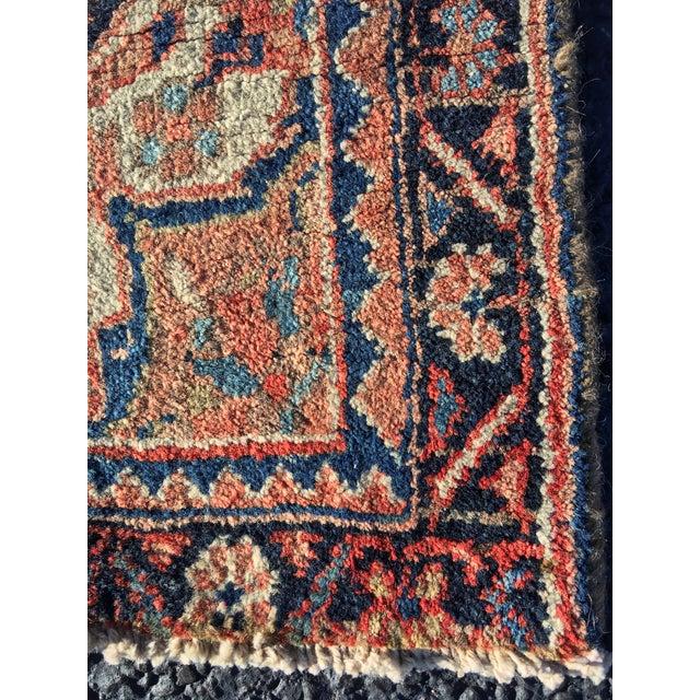"""Vintage Persian Heriz Door Mat Rug - 2'1"""" x 2'8"""" - Image 5 of 8"""