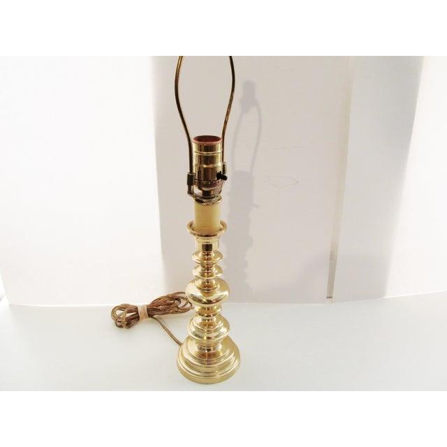 Vintage Berman Brass Candlestick Lamp - Image 7 of 7