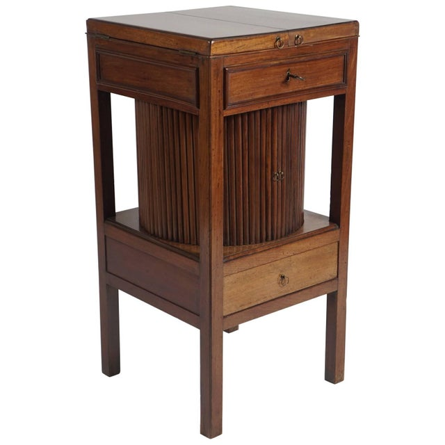 Mahogany Tambour Stand, England, Circa 1790 For Sale - Image 11 of 11