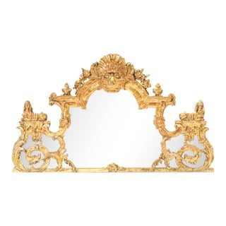 18th Century French Regency Giltwood Mirror / Overdoor For Sale