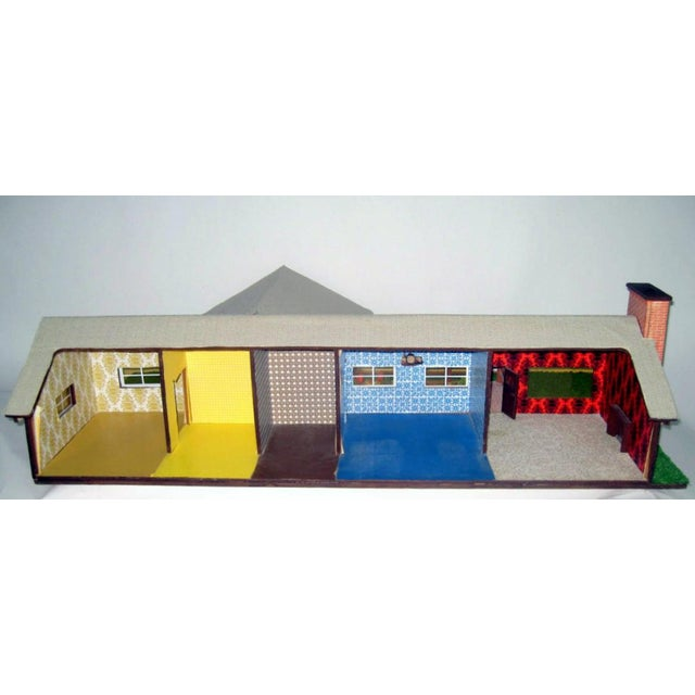 White C.1970s Ranch Style Dollhouse For Sale - Image 8 of 11