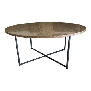 Contemporary Room & Board Classic Coffee Table With Granite Top For Sale